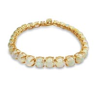 Alicia Yellow Gold and Opal Bracelet - Special Occasion Jewelry | Price - $2,600.00