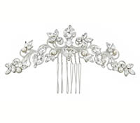 Shop Hair Accessories - comb -  Swarovski Crystals-pearls | Price - $225.00