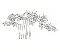 Shop Hair Accessories - comb -  Swarovski Crystals-pearls | Price - $175.00