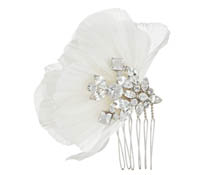 Shop Hair Accessories - Flowers - Feathers-  Swarovski Crystals  | Price - $100.00