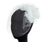 Shop Hair Accessories - French Veiling-  Swarovski Crystals  | Price - $260.00
