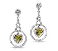 Byron Yellow and White Diamond Earrings | Price - $13,000.00