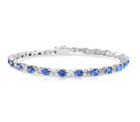 Dryden Diamond and Sapphire Bracelet - Occasion Jewelry | Price - $6,295.00