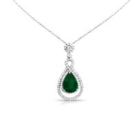Harris Diamond & Emerald Pendant | Price - $5,992.00