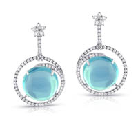 Isha Diamond Blue Topaz Earrings | Price - $5,000.00