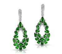 Lenton Diamonds & Tsavorite Dangle Earrings | Price - $6,750.00