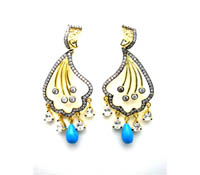 Shop honeymoon Accessories-costume-earrings-exotic-wedding | Price - $225.00