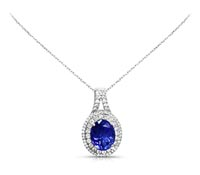 Macy Diamond & Tanzanite Pendant | Price - $4,972.00