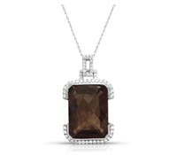 Parker Diamond Smokey Quartz Pendant - Occasion Jewelry | Price - $1,999.00