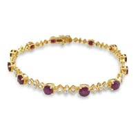 Ruby Diamond Gold Bracelet - Occasion Jewelry | Price - $4,495.00