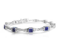 Wells Diamond and Sapphire Bracelet - Occasion Jewelry | Price - $9,495.00