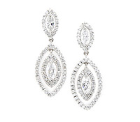 Shop Special Occasions Jewelry: Dangle Marquis Diamond Earrings  | Price - $8,135.00