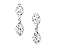 Purchase Occasions Jewelry: Superb Marquis Diamond Earrings | Price - $6,265.00