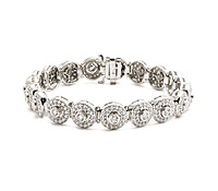 Round Bezel Diamond Bracelet - Purchase Special Occasions Jewelry | Price - $15,950.00
