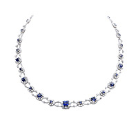 Purchase Jewelry: Sapphire and Diamond Necklace | Price - $32,995.00