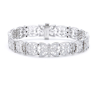 jewelry with nikhil silver bracelet center mondal pin bangle fine pinterest diamond floral