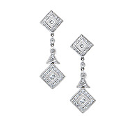 Occasions Fine Jewelry : Rorey Dangle Diamond Earrings | Price - $3,295.00