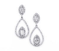 Special Occasions Jewelry : Abbott Diamond Drop Earrings | Price - $8,795.00