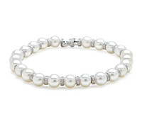 Purchase Special Occasion Jewelry! Pearl & Diamond Bracelet Strand | Price - $5,495.00