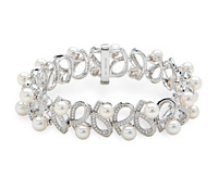 Shop Occasion Fine Jewely: Pearl Diamond Bracelet | Price - $11,655.00
