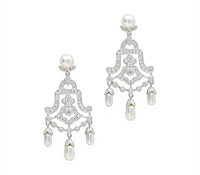 Pearl & Diamond Chandelier Earrings - Shop Special Occasions Jewelry | Price - $3,685.00
