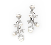 Fine Occasion Jewelry  - Budding Diamond Pearl Earrings  | Price - $2,805.00