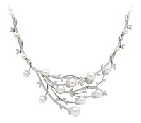 Diamond Pearl Necklace - Special Occasions Jewelry  | Price - $13,195.00