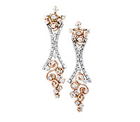 wedding jewelry: Rose Gold Earrings | Price - $4,995.00