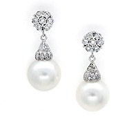 Shop Special Occasions Jewelry: Pearl Drop Earrings | Price - $3,625.00